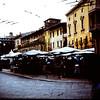 1967  Piazza Delle Erbe in Verona on Market day.