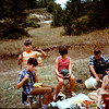1969  in Mtns between Brindisi and Naples for lunch.  The 10 liter jug was the easyest way to buy wine.  $0.25/liter or less.  Fred, Craig, Christine, Fred and Shirley Antrobus.