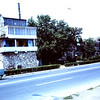 Our way to Istanbul.  We stopped to take a picture of the house built into the city wall.  Our VW bus.1968