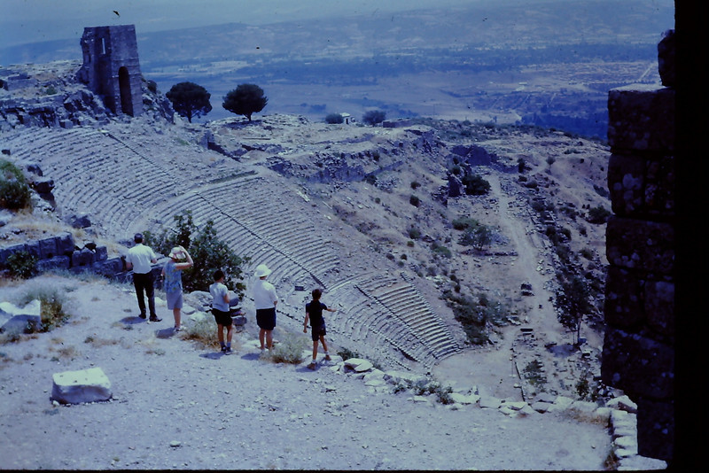 The Great Theater of Bergama with Raymond and Erma Smelser, Fred IV, Shirley and Craig Antrobus.