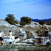 Having lunch with the Housmans on the bases of the entrance pillers of the stadium 765'x1000' at Ephasus.  1968