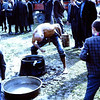 He stood over the pot of oil and slopped it on.  Devekoy 1969