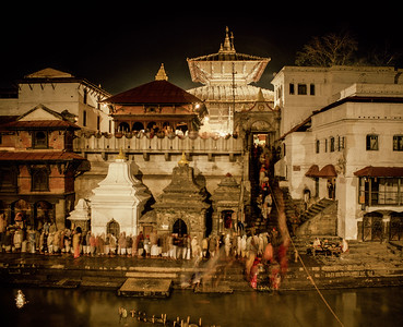 Devotees Queued at Pashupatinath Temple.