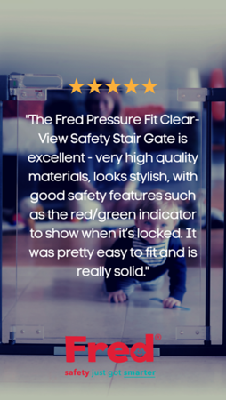 Shop our range of clear-view stairgates to make your home a safe space for your little ones...