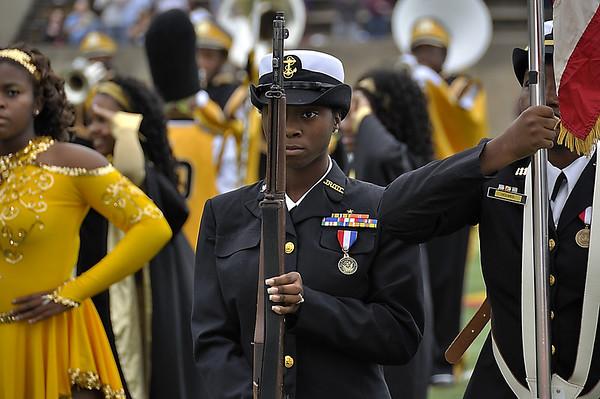 Navy JROCT Color Guard