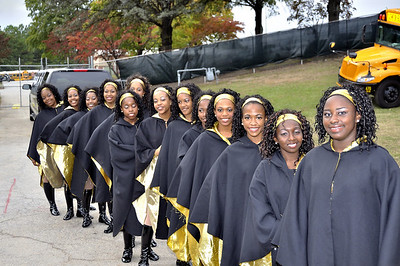 Douglass HS Deadly Drummers Alumni Band Drumline performs for corwd as they enter Lakewood Stadium for Homecoming Game
