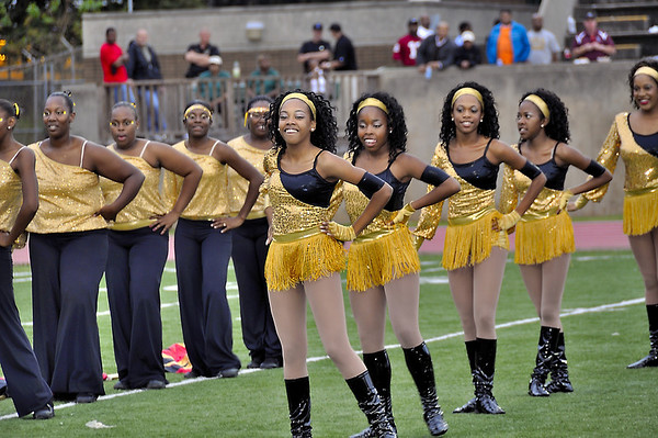 Douglass HS Northstarettes during Homecoming halftime field show at Lakewood Stadium