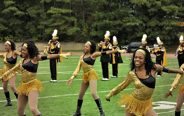 Douglass HS Northstarettes perform Homecoming field show at Lakewood Stadium