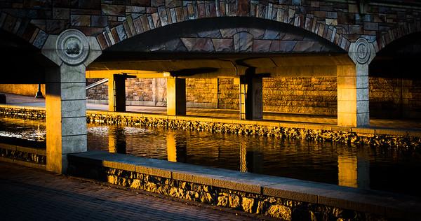 Firelight at Mural Bridge