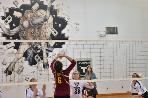 Harper volleyball-football-band-10-25-17