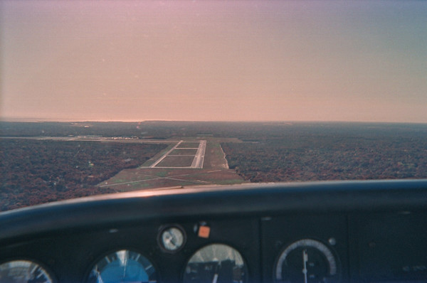 Flying around Long Island, New York