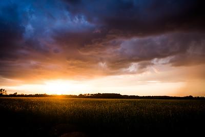 Sunset in Scotland County North Carolina
