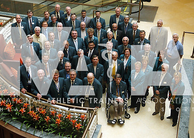 NATA Hall of Fame members pose during the 2009 Annual Meeting in San Antonio, Texas. Photo by RenŽe Fernandes/NATA