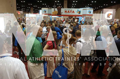 Companies exhibit their products at the 2009 NATA Trade Show in San Antonio, Texas. Photo by RenŽe Fernandes/NATA.