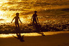 "Two boys playing in the ocean. They are silhouetted by the setting sun.   The ""XLarge"" and smaller photo sizes are FREE for any personal use (under a <a href=""http://creativecommons.org/licenses/by-nc-nd/2.0/"">Creative Commons</a> license). Click the ""Buy"" or shopping cart button (above the image) to purchase prints or downloads. PRICING: 1-megapixel Personal downloads are $4.95; 4-megapixel and ""Original"" (6-megapixel) Personal downloads are $49.95; 1-megapixel Commercial downloads are $49.95, 4-megapixel and ""Original"" (6-megapixel) Commercial downloads are $199.95; NOTE: Free personal use requires a photo credit to my company, ''<a href=""http://www.tssphoto.com/"">The Stock Solution</a>'', and link to that Web site if you use the image on a personal Web site."