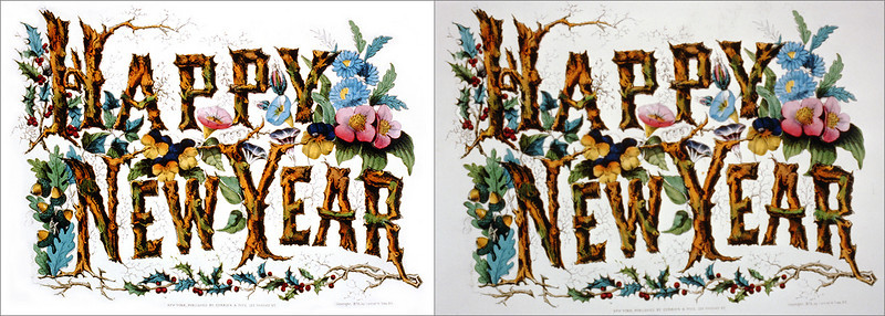 Currier & Ives restoration (top), with original Library of Congress scan on the bottom