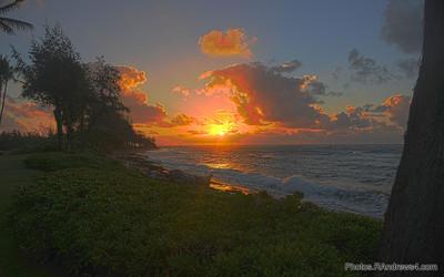 Sunrise over the Pacific from Kaua'i