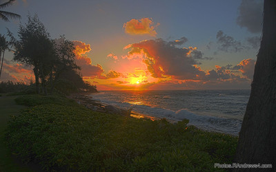 Sunrise over the Pacific from Kaua'i