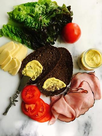Dijon Mustard on Bread