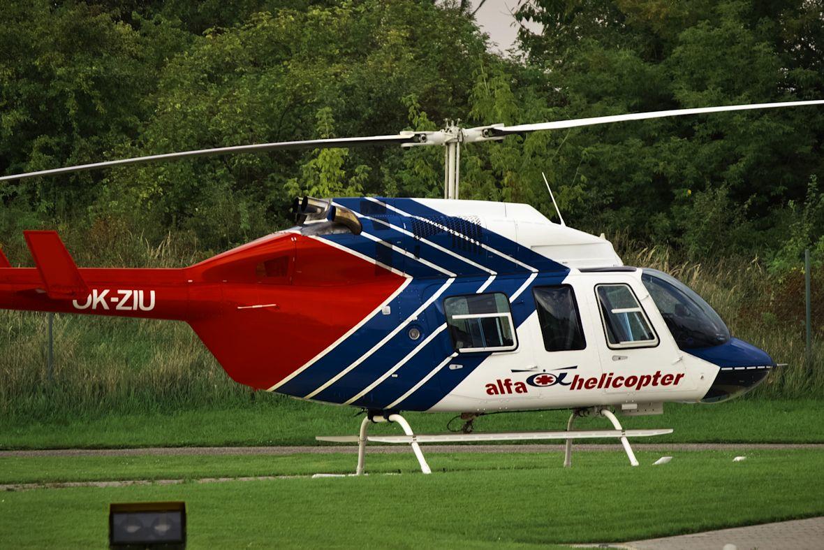 Přiznávám, že záchranářský vrtulník s imatrikulací OK-ZIU mě poněkud rozesmál, je to takové hezky optimistické