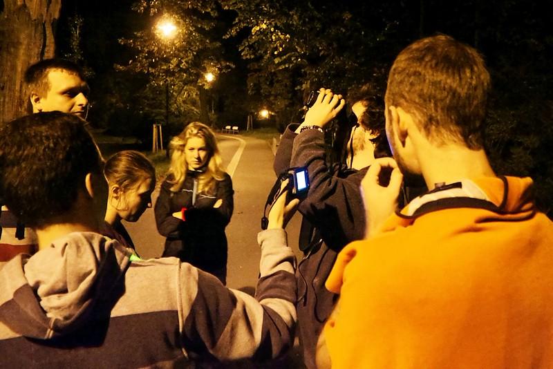 Předvádění nočního vidění pro pozorování netopýrů