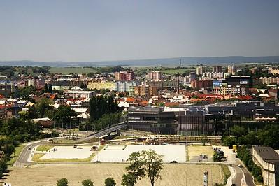 Detailnější pohled na Šantovku a sídliště Povel