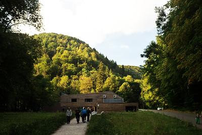 Nový Dům přírody u Kateřinské jeskyně.  http://www.dumprirody.cz/moravsky-kras/
