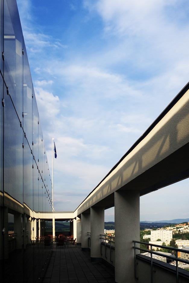 Vyhlídka na Baťově mrakodrapu