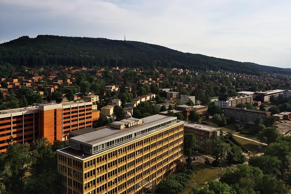 Zlín, univerzita Tomáše Bati a Baťovy domky