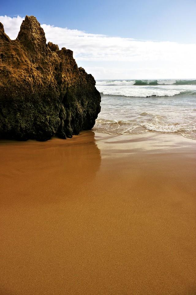 Barva a struktura zdejšího mokrého písku mě upřímně fascinovala