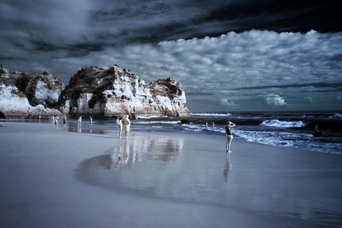 Praia dos Trés Irmaos, celá v infračerveném