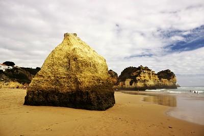 Praia dos Trés Irmaos, jinými slovy východní cíp Praia de Alvor