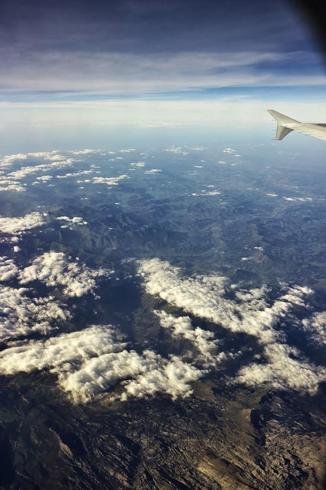 Hranice mezi Španělskem a Francií zhruba nad horou Pic d'Anie