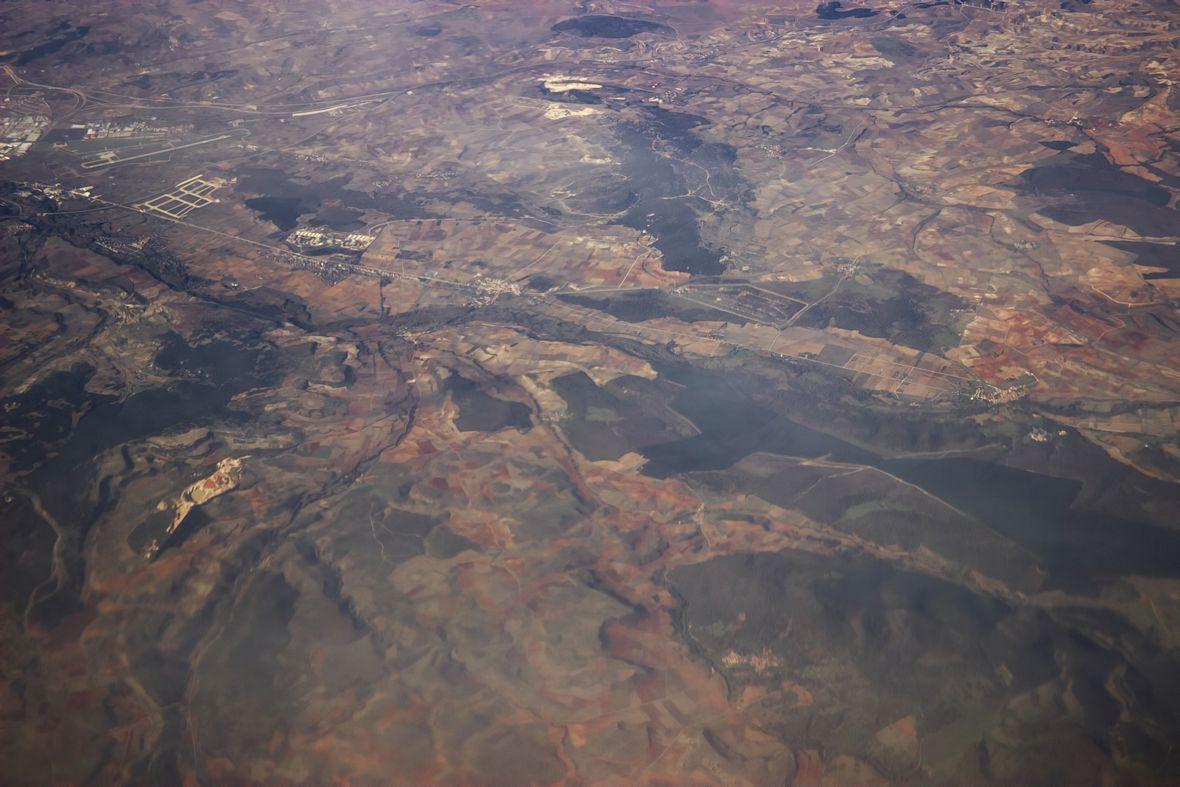 Východní okraj Burgosu (vlevo je ještě vidět kus města)