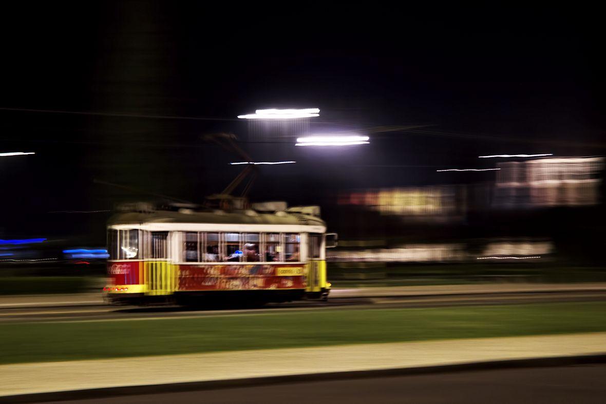Klasická lisabonská tramvaj