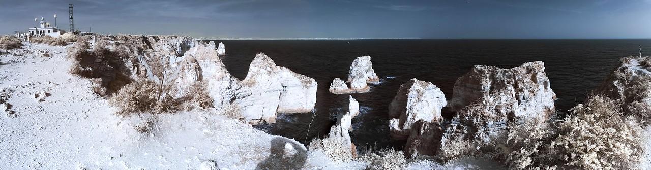 IR panoráma útesů Ponta da Piedade