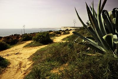 Pohled z Ponta da Piedade po pobřeží směrem na západ
