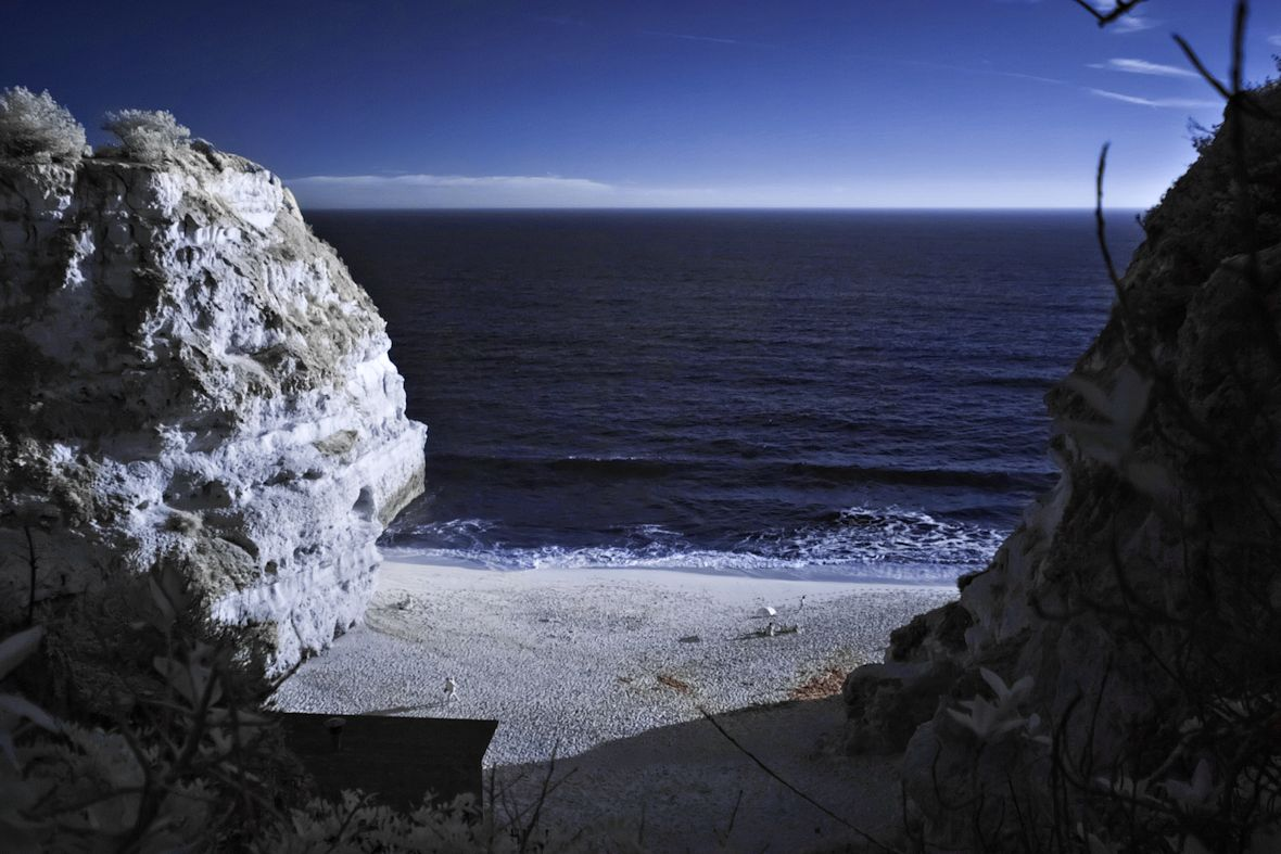 Praia de Marinha infračerveně