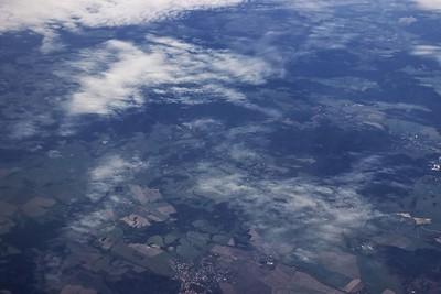 Dole uprostřed Františkovy lázně, pohled směrem na severozápad