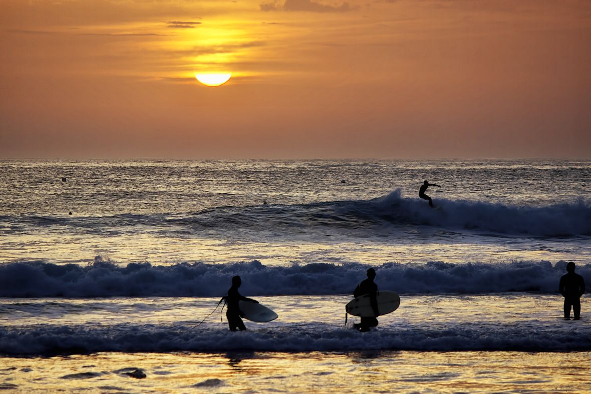 It's the end of a perfect day for all the surfer boys and girls...