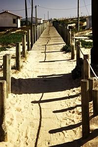 Začátek stezky, která vede od konce silnice na Ilha de Faro až skoro na jeho konec