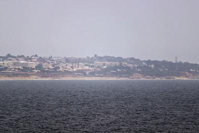 """Pohled od kaple na """"naši"""" pláž Galé"""