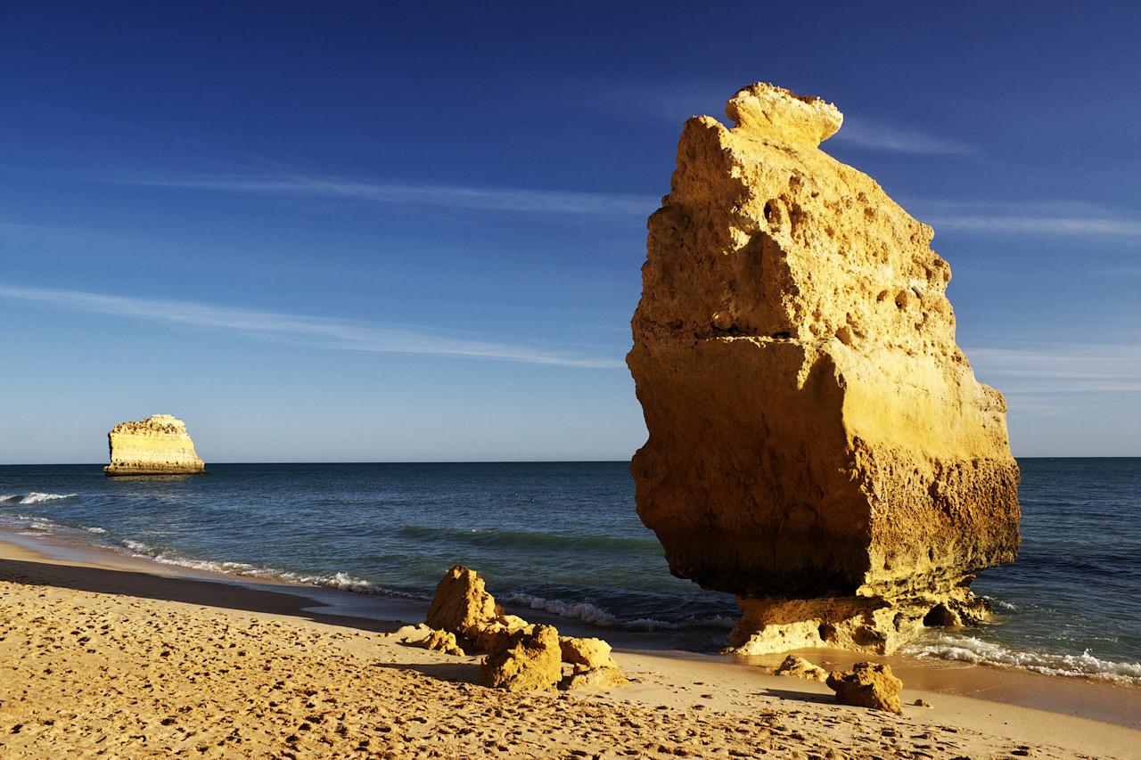 Letošní návrat na Praia da Marinha