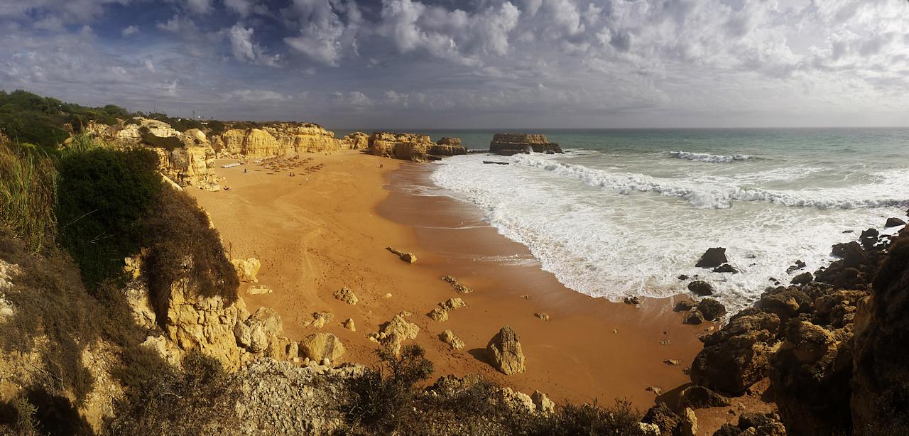 Panoráma Praia do Castelo a úžasného příboje