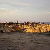 Takhle to na Cabo de Sao Vicente vypadá před západem slunce - zástupy fotografujících