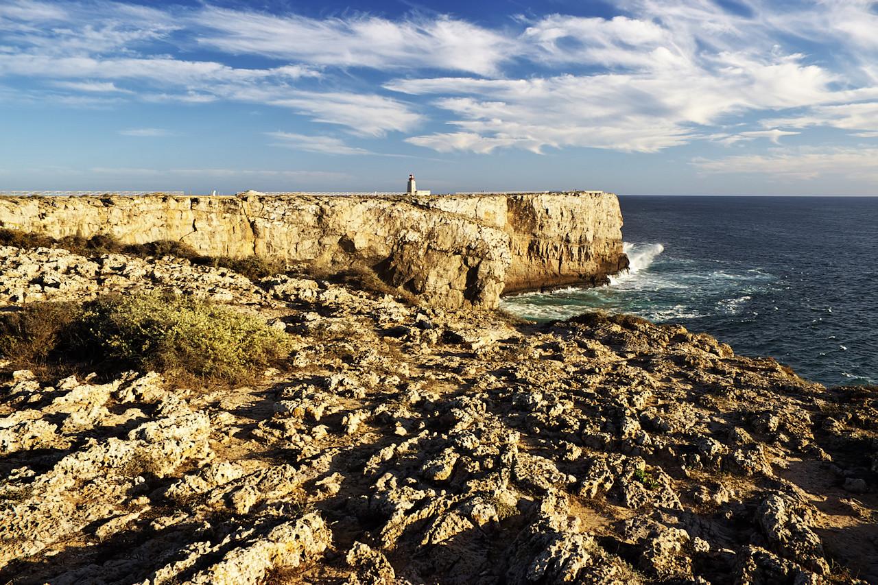 Cabo de Sagres s malým majákem
