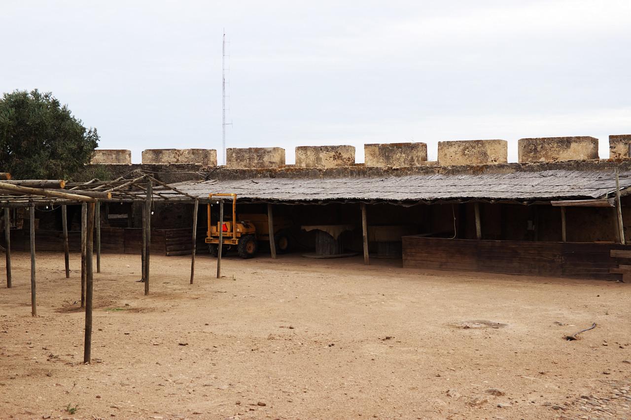 Na nádvoří hradu byl ustájen bagr (nebo co to bylo)