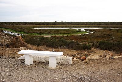 Na druhé straně říčního mola jsou rozsáhlé mokřady