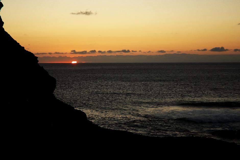 Západ slunce nad Atlantikem