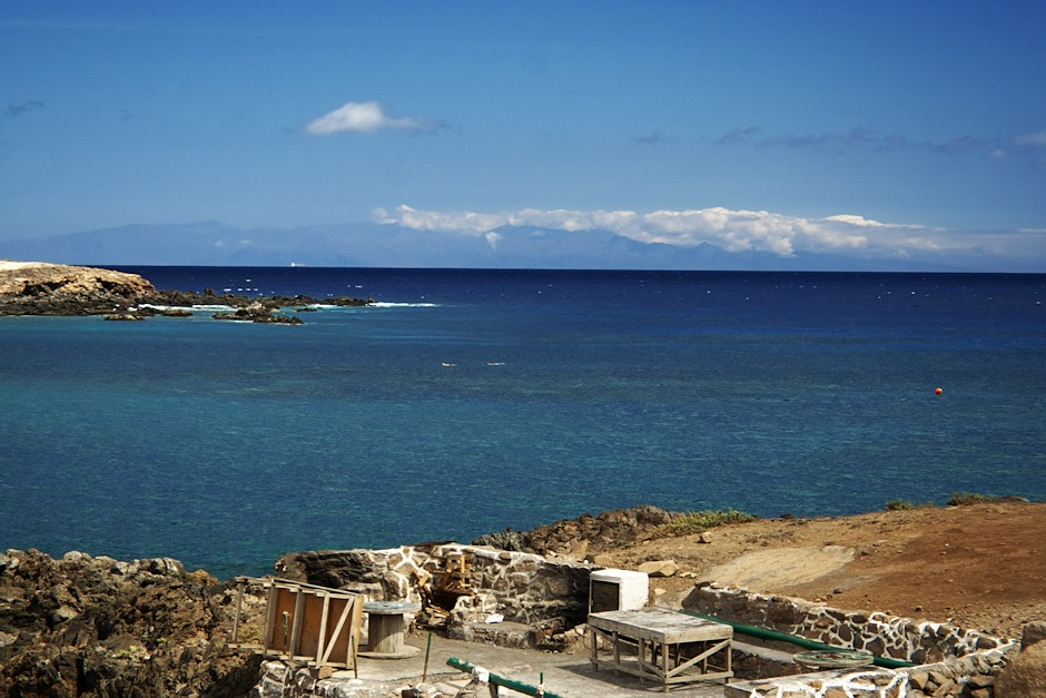 Gran Canaria z pobřeží u Sanatorio de Abona